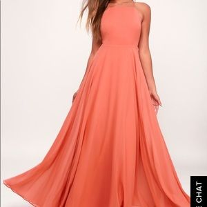 Lulu's Coral Bridesmaid Dress